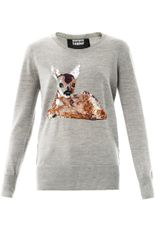 Markus Lupfer Deer Sequin Sweater - Lyst