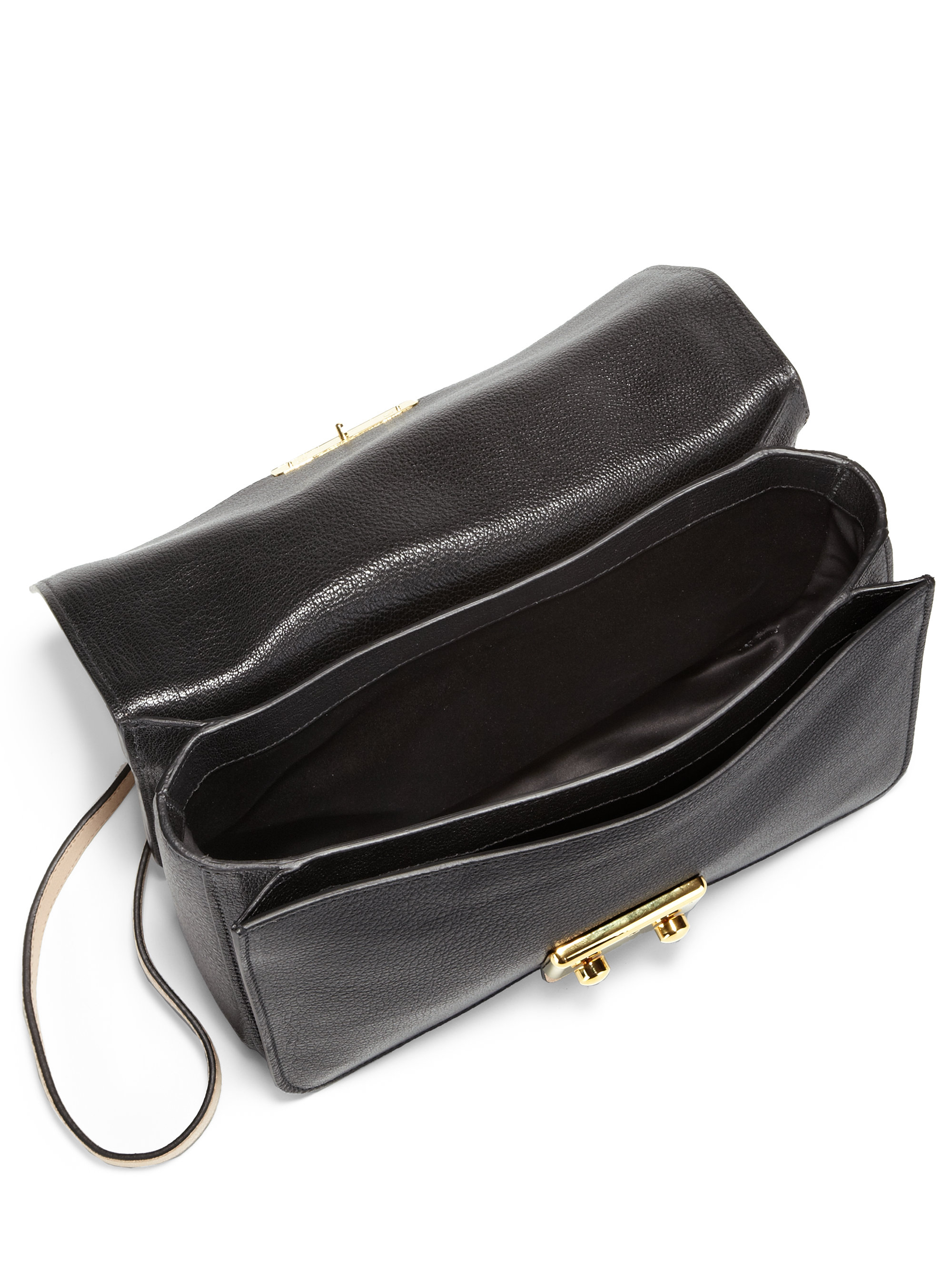 miu miu two tone leather shoulder bag in lyst