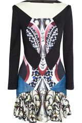 Peter Pilotto Caio Stretch Satin Jersey Dress - Lyst