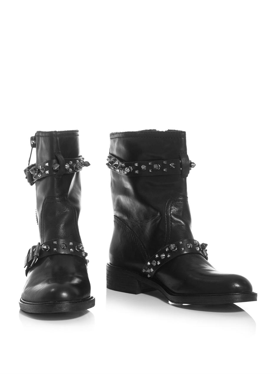 22072264f Lyst - Sam Edelman Adele Biker Boots in Black