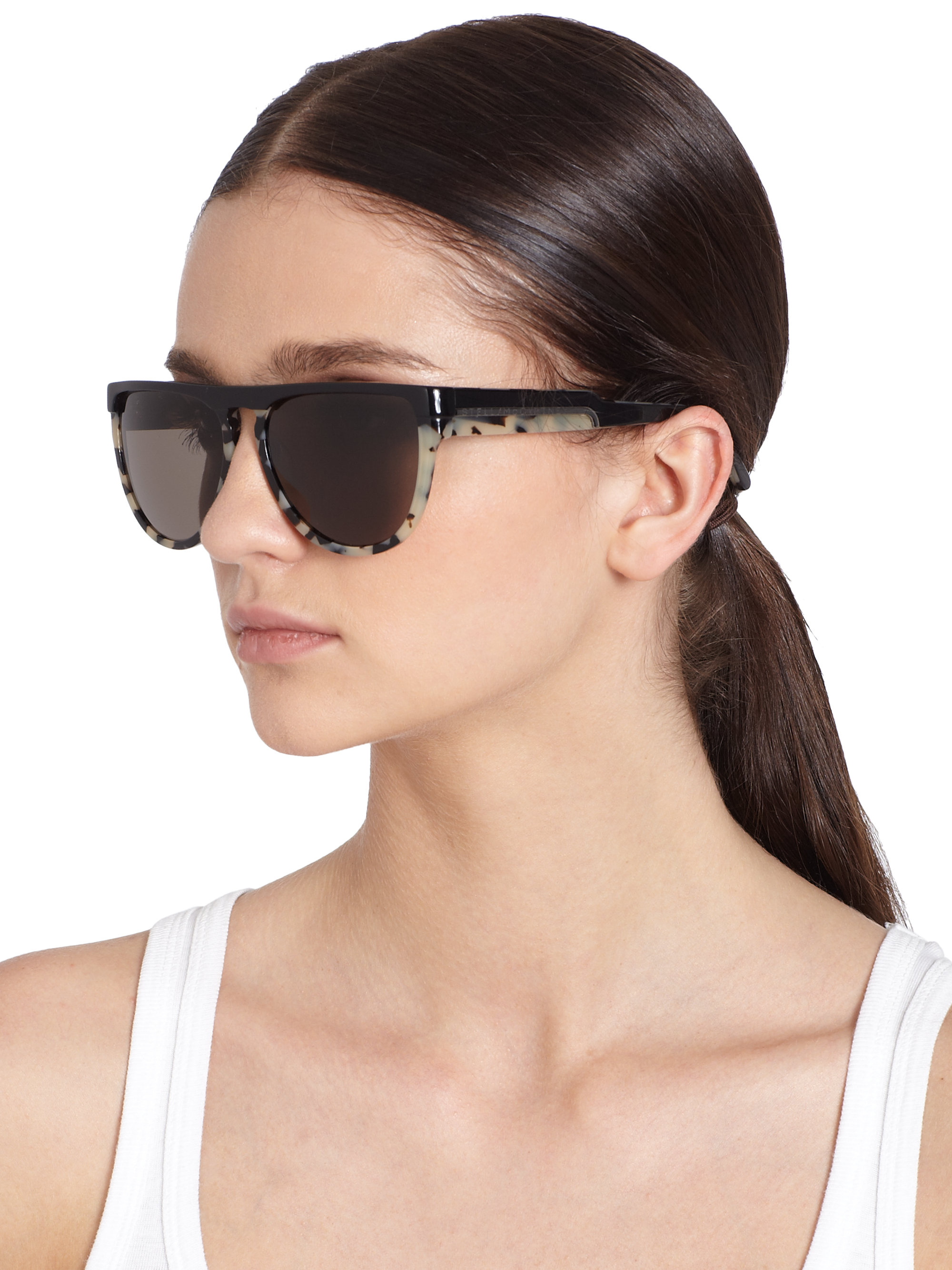 66cad3e187e9d Stella McCartney Oversized Round Acetate Sunglasses in Gray - Lyst