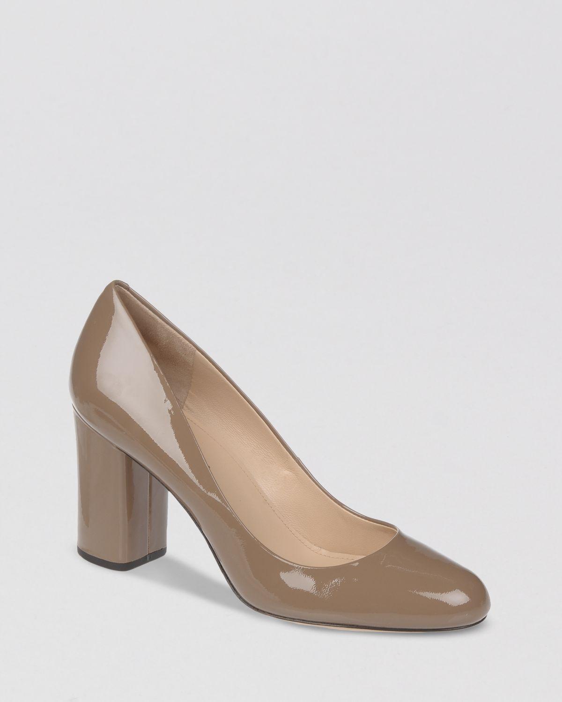 caba656790f Lyst - Via Spiga Pumps Carmen Block Heel in Gray
