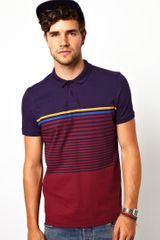 Asos Stripe Polo - Lyst