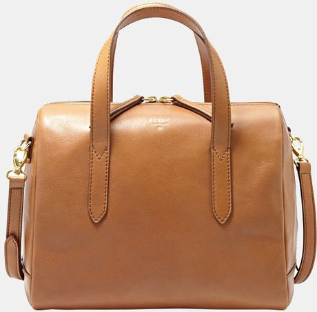 Fossil Sydney Satchel in Brown