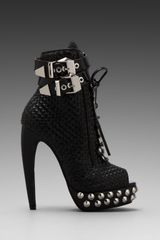 Jeffrey Campbell Rudy Embellished Open Toe Boot in Black - Lyst