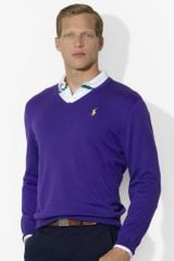 Polo Ralph Lauren Vneck Sweater - Lyst