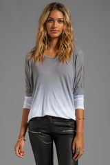 Saint Grace Saint Omega Oversized Top in Gray - Lyst
