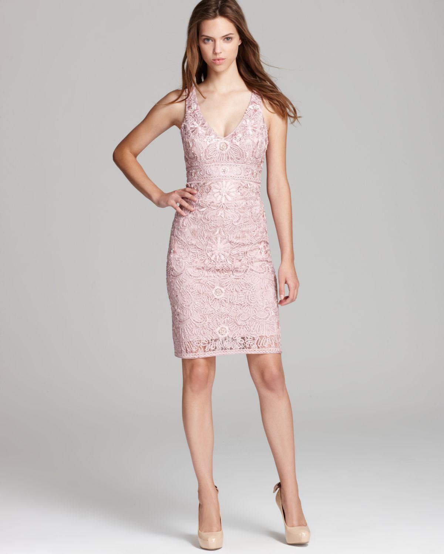 4c36067b08c Sue Wong Short Dress V Neck in Pink - Lyst