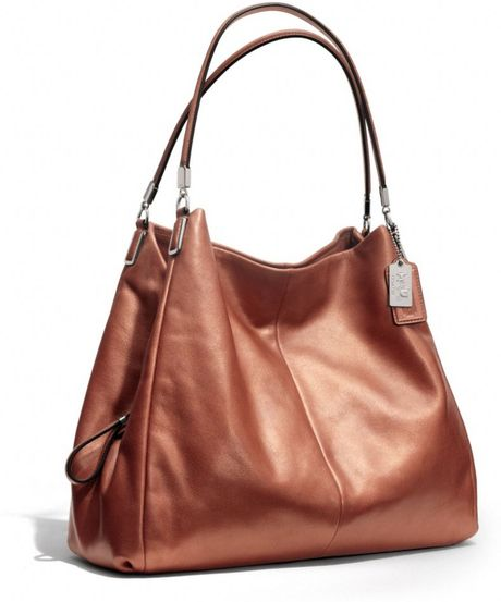 Coach Madison Phoebe Shoulder Bag In Metallic Leather 51