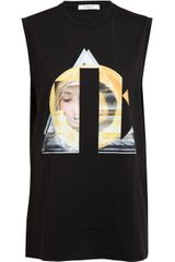 Givenchy Abstract Printed Cotton Tank Top - Lyst