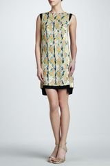 J. Mendel Embroidered Shift Dress - Lyst