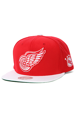 Lyst - Mitchell   Ness The Detroit Red Wings Xl Logo 2tone Snapback ... 1ab193f37