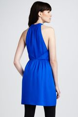 Theory Sleeveless Silk Dress - Lyst