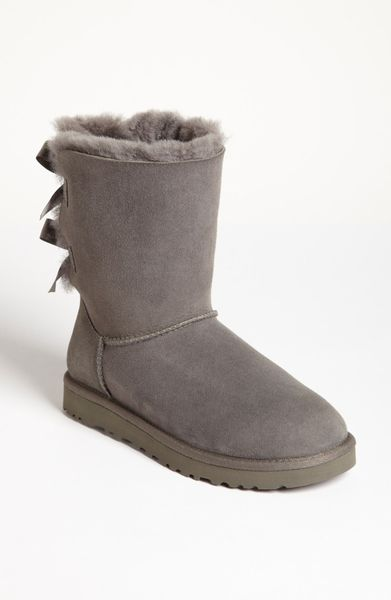 Ugg Bailey Bow Boot in Gray (Grey) - Lyst