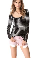 Free People Stripe Long Sleeve Tee - Lyst