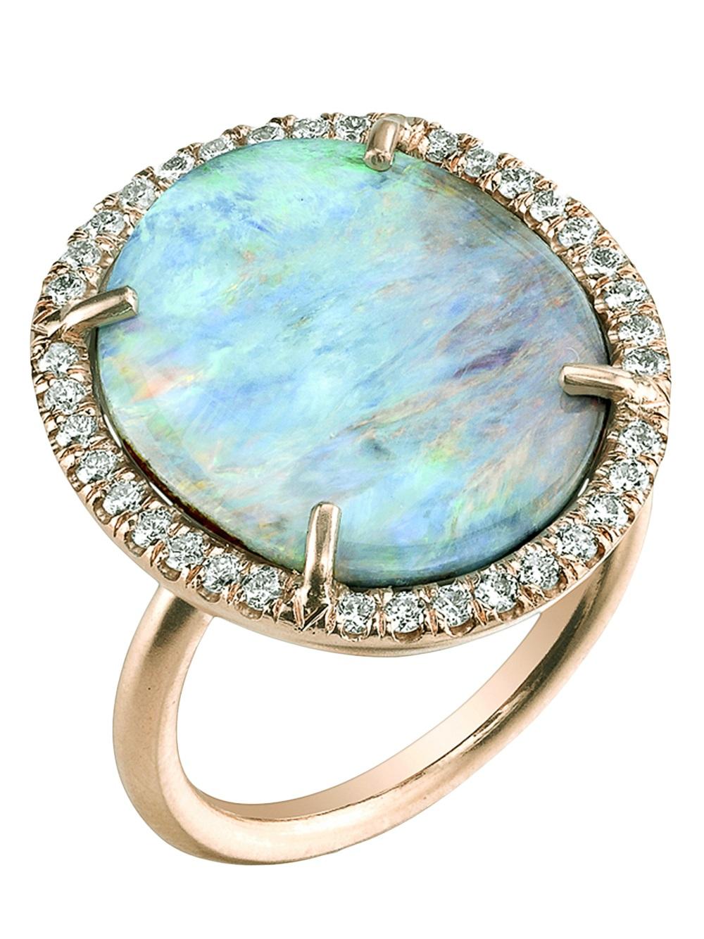 Irene Neuwirth Opal & rose-gold ring YsSmC9mFIU