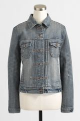 J.Crew Factory Stretch Denim Jacket - Lyst