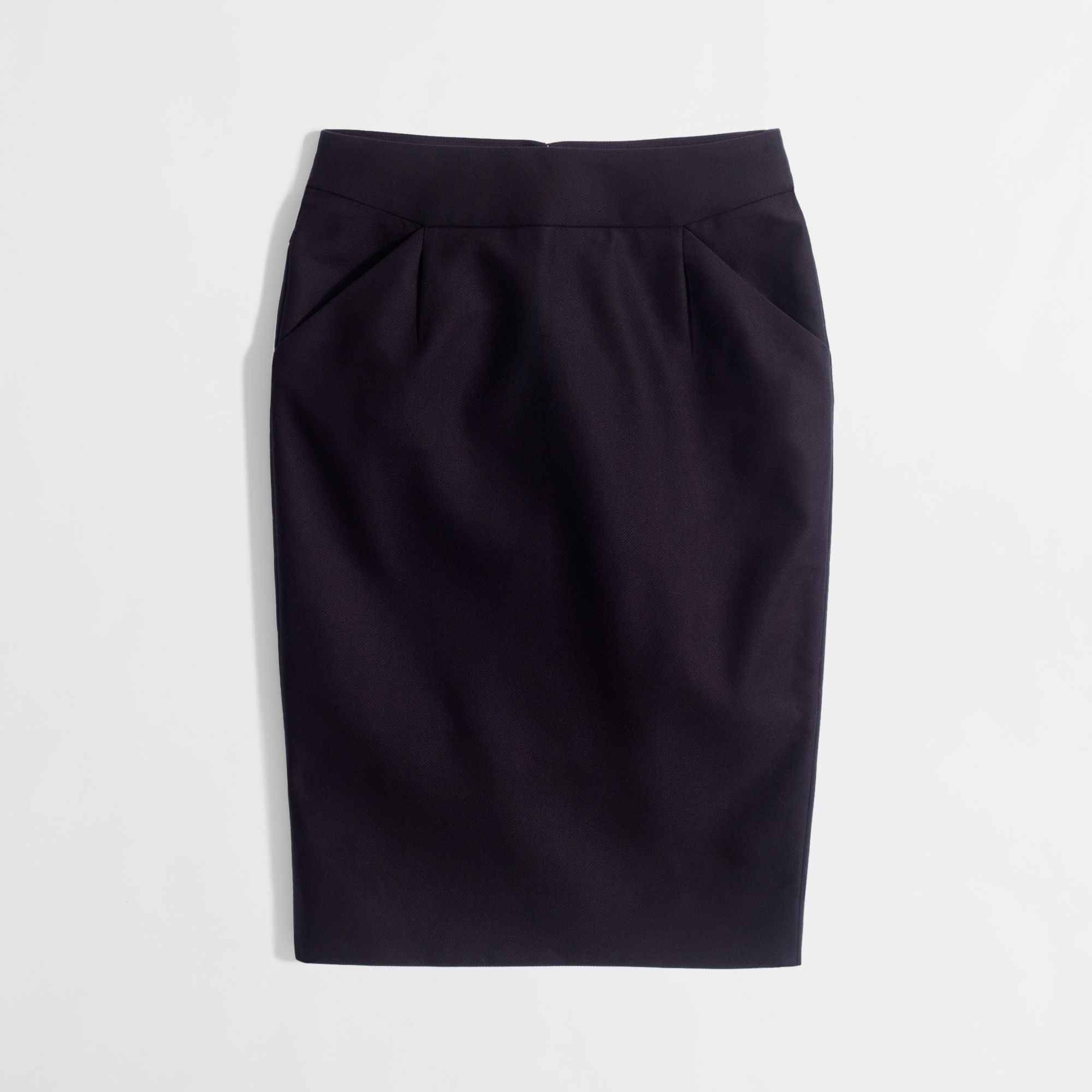 j crew factory pencil skirt in doubleserge cotton in