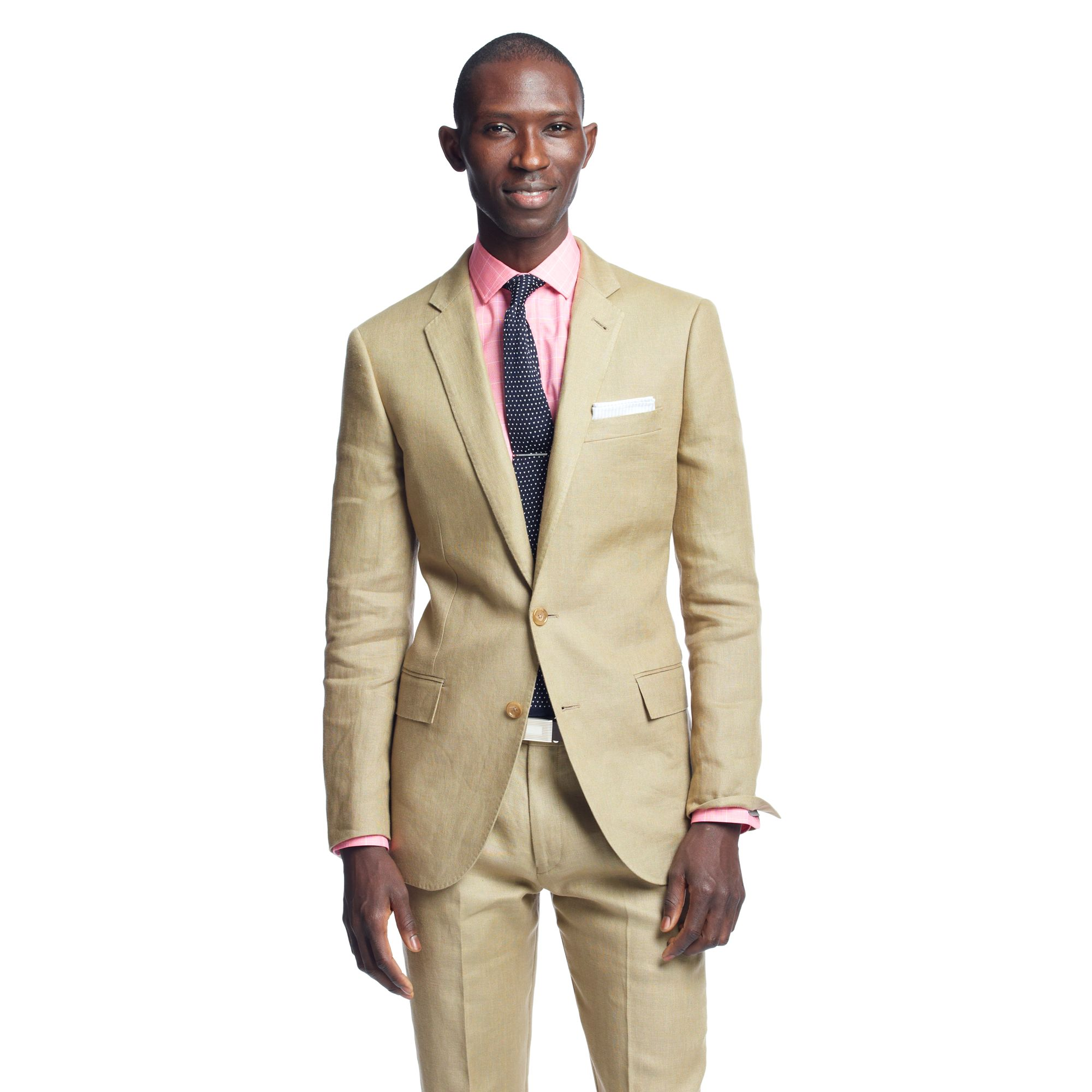 511f32a902e Lyst - J.Crew Ludlow Classic Suit Pant In Irish Linen in Natural for Men