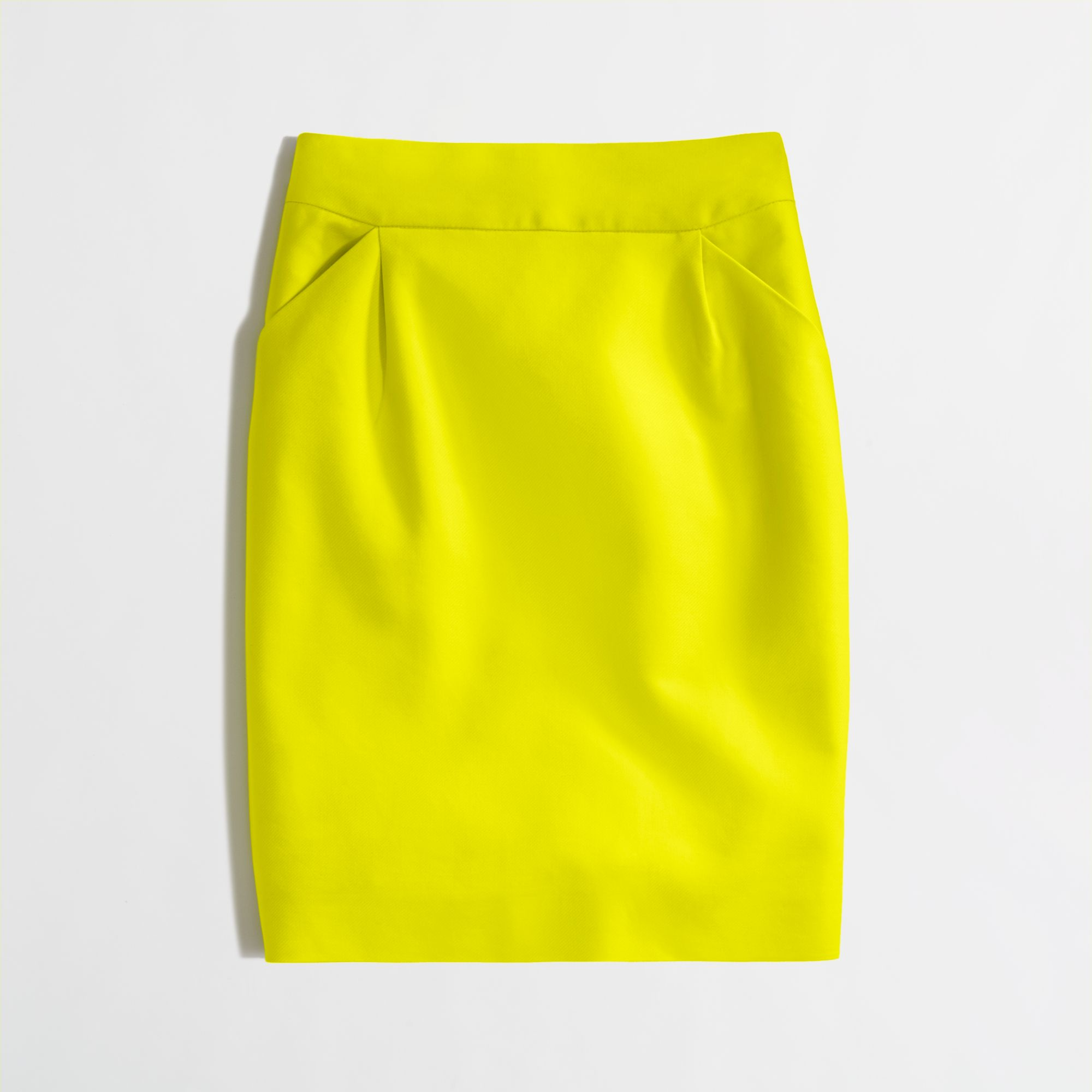 72a7c122a J.Crew Factory Pencil Skirt in Doubleserge Cotton in Yellow - Lyst