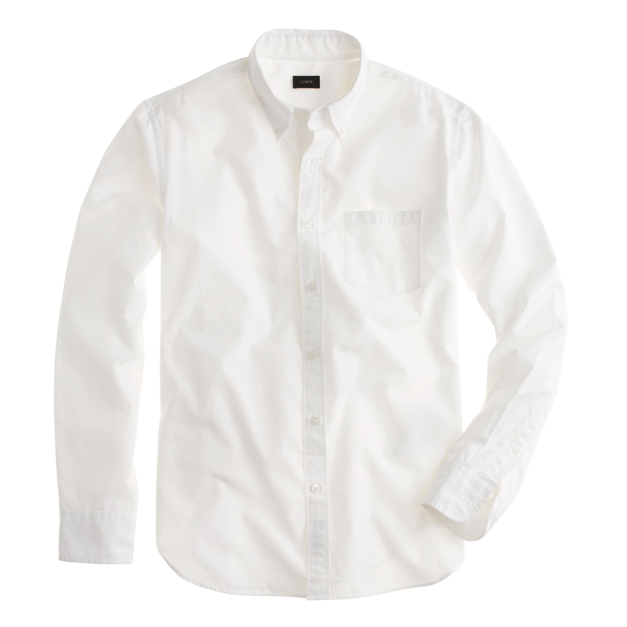 Tall secret wash shirt in white in white for men lyst for Mens white button down dress shirts