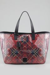 McQ by Alexander McQueen Eastwest Plaid Tote Bag Red - Lyst