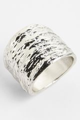 Topshop Textured Ring - Lyst