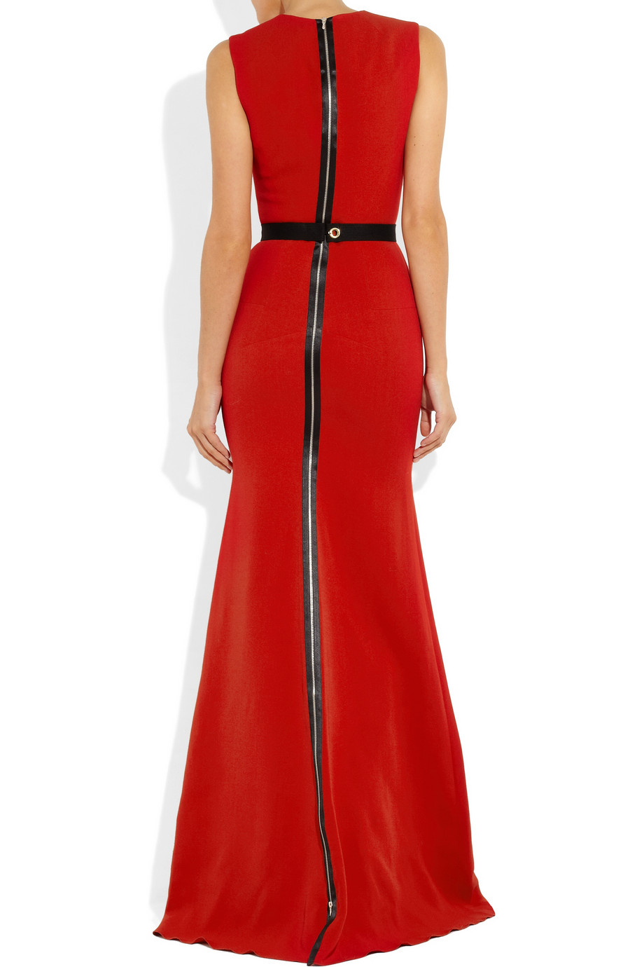 Lyst Victoria Beckham Belted Wool And Silkblend Double