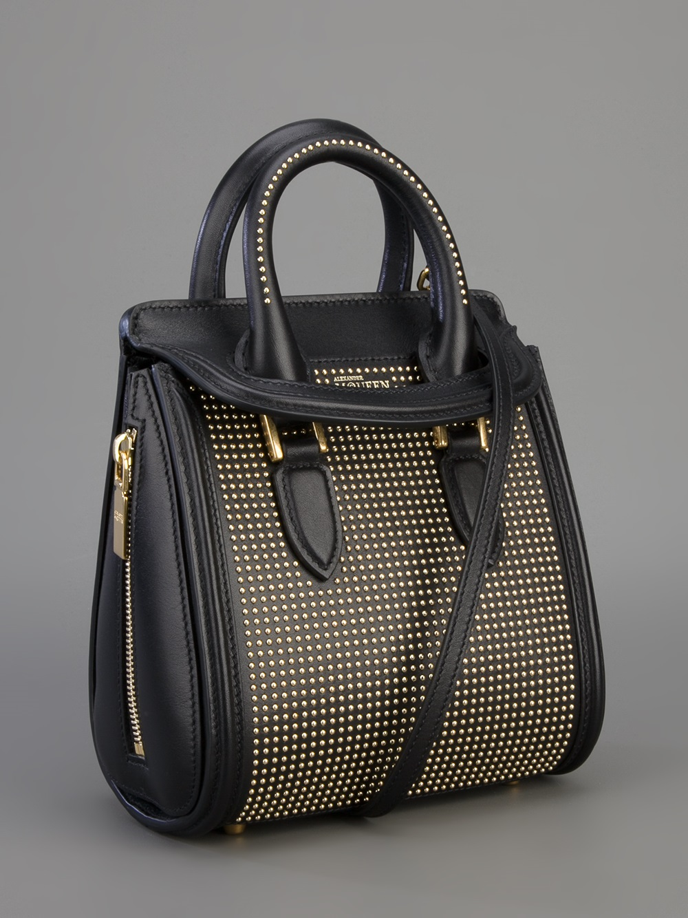Alexander mcqueen Mini Heroine Bag in Black | Lyst