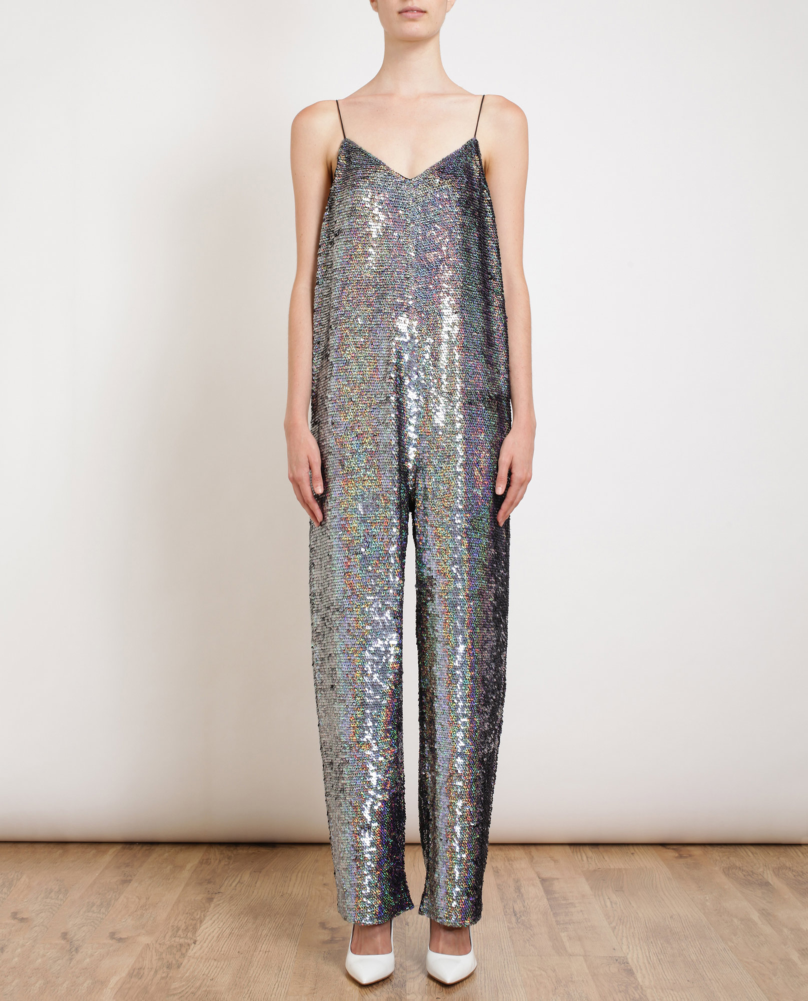 201ca935495 Ashish Holographic Sequin Jumpsuit in Metallic - Lyst