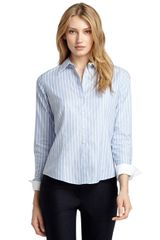 Brooks Brothers Petite Fitted Noniron Stripe Dress Shirt - Lyst