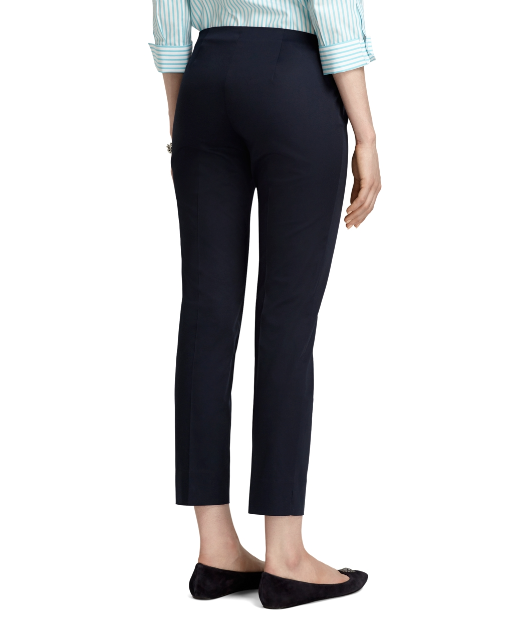 Brooks brothers Natalie Fit Cotton Stretch Capri Pants in Blue | Lyst