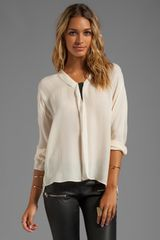 By Malene Birger Drapy Touch Emeka Blouse in Cream - Lyst