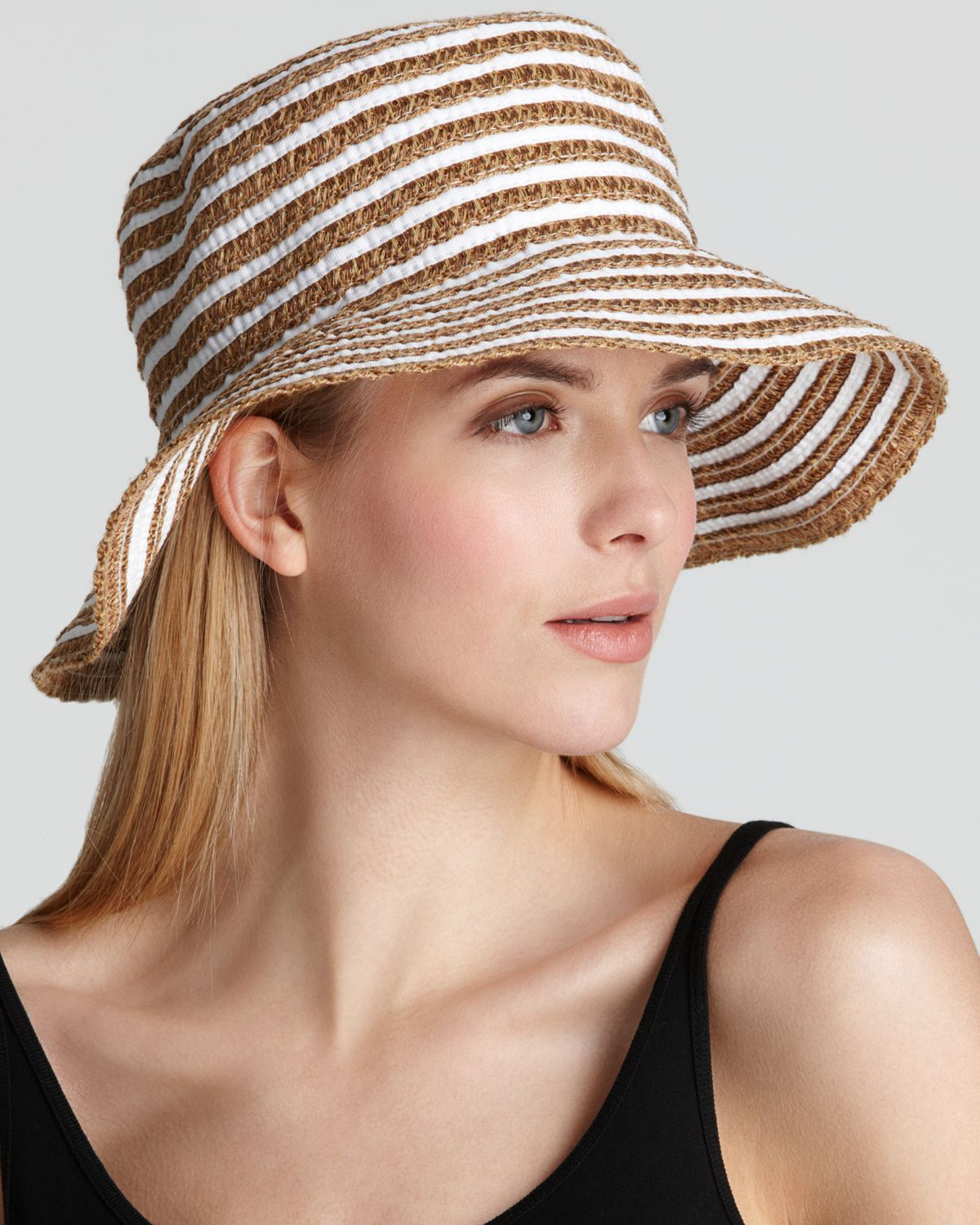 Lyst - Eric Javits Braid Dame Multicolor Bucket Hat in White db645f7852d