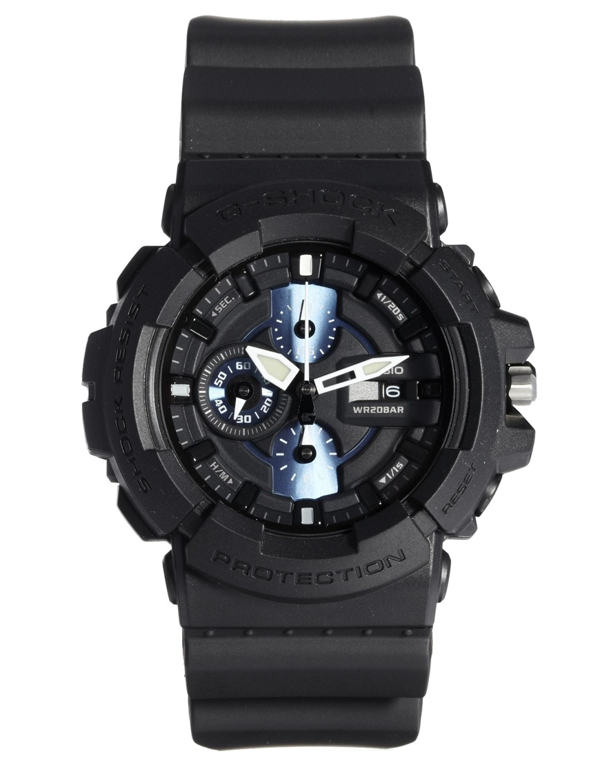 Lyst g shock casio gshock gac1001a2er watch in black for men for Watches g shock