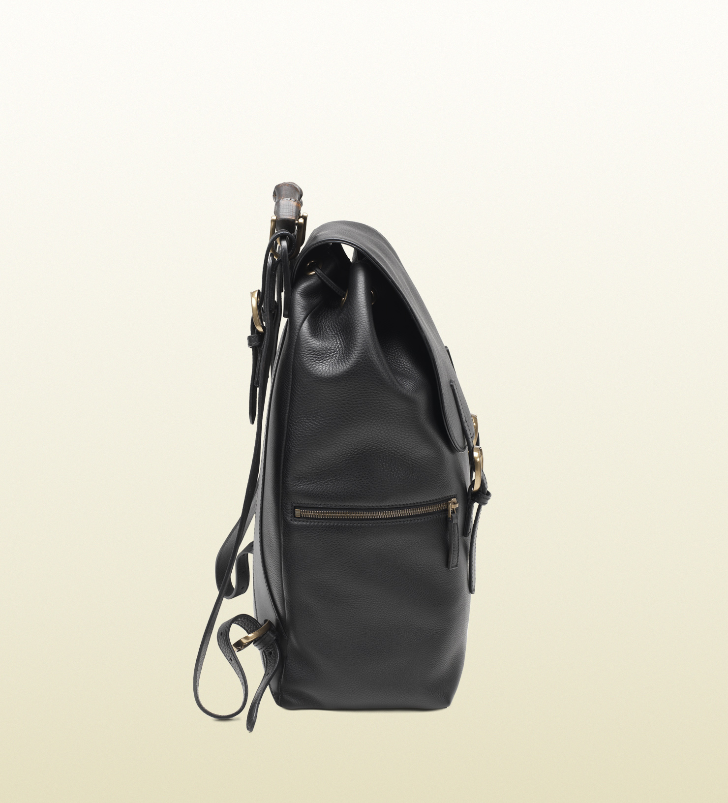 3989705c0ba mens gucci black leather backpack lyst gucci black leather backpack in black  for