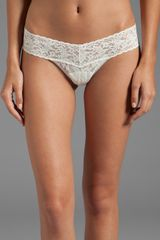 Hanky Panky Low Rise Thong in White - Lyst