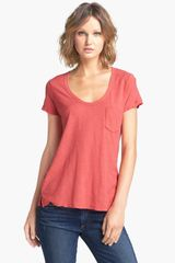 James Perse Sheer Slub Boyfriend Tee - Lyst