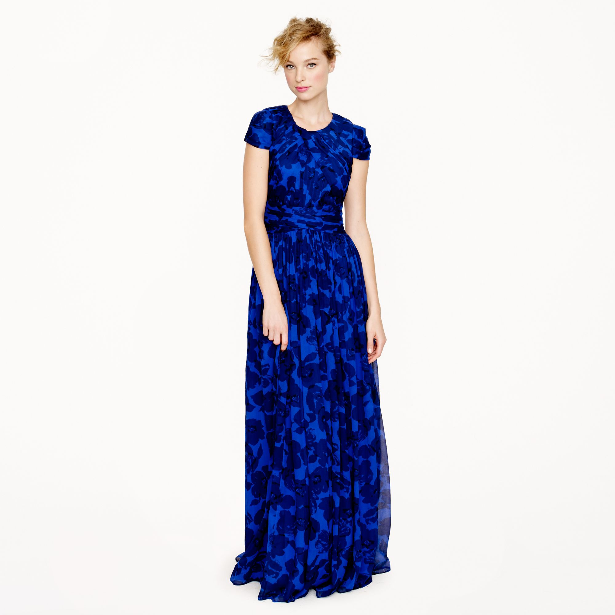 J.Crew Collection Dauphine Gown in Watercolor Floral in Purple - Lyst