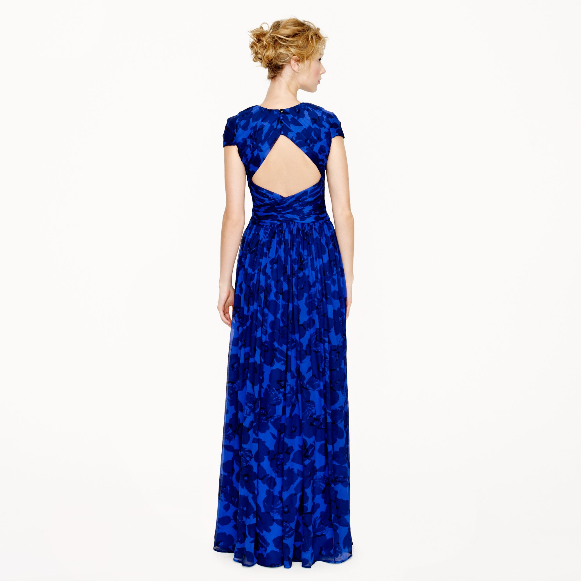 Jew collection dauphine gown in watercolor floral in purple lyst gallery ombrellifo Gallery