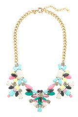 J.Crew Technicolor Floral Necklace - Lyst