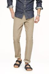 J.Crew Slim straight Selvedge Jean in Rinsed Khaki - Lyst