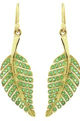 Jennifer Meyer Emerald Leaf Earring - Lyst