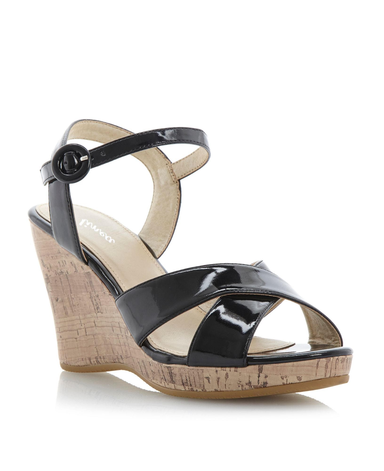 Product - Chinese Laundry Dance Party High Wedge Sandal - Black Suede. Product Image. Price $ 33 - $ Product Title. Chinese Laundry Dance Party High Wedge Sandal - Black Suede. Product - Womens Black Wedge Sandals Gothic Punk Slides Star Cutout 5 1/4 Inch Heels Shoe. Reduced Price. Product Image.
