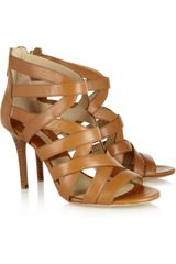 Michael Kors Merida Leather Sandals - Lyst