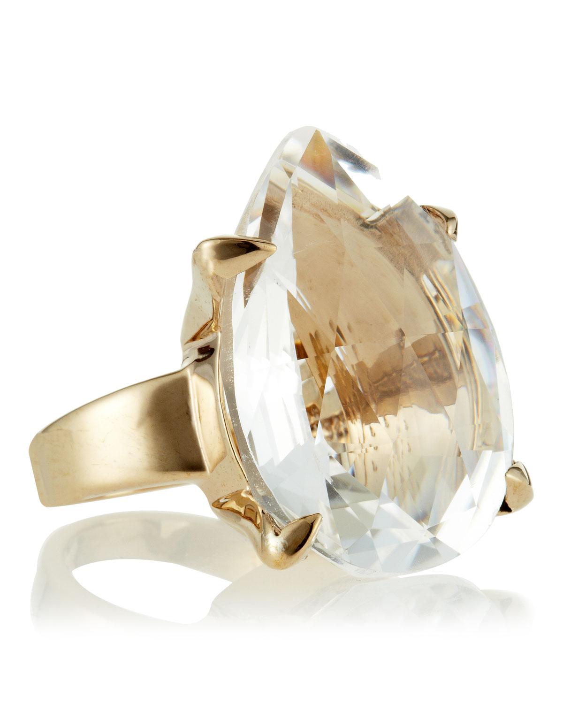 Stephen Dweck Pearcut Rock Crystal Ring In Metallic Lyst