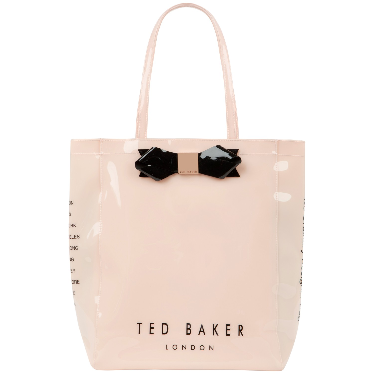 2c651133dd8cb Ted Baker Larcon Bow Icon Shopper Bag in White - Lyst