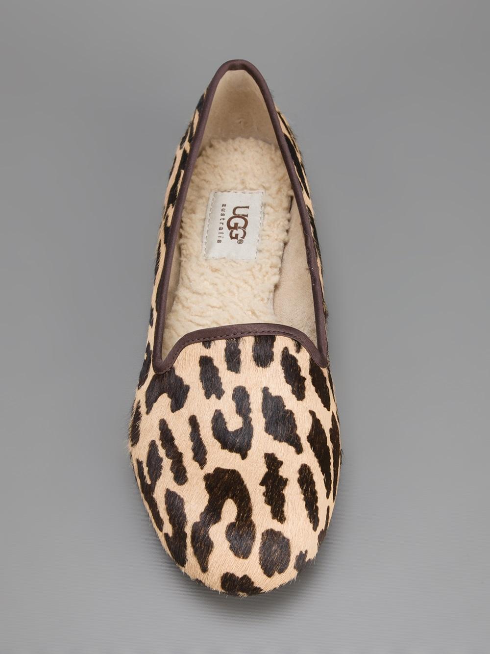 Lyst Ugg Alloway Leopard Print Slipper In Brown