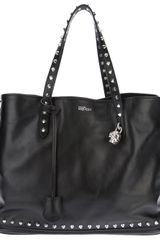 Alexander McQueen Studded Leather Padlock Small Shopper - Lyst