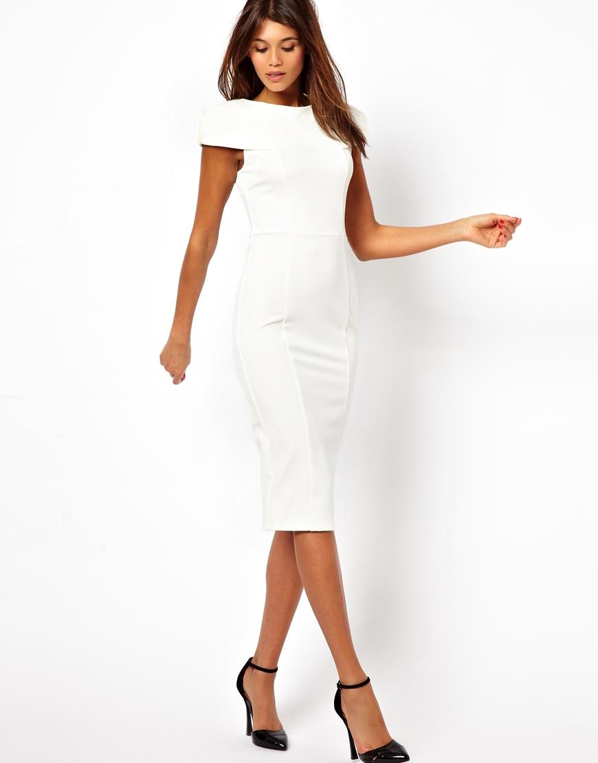 White Dresses for Office - Dress images